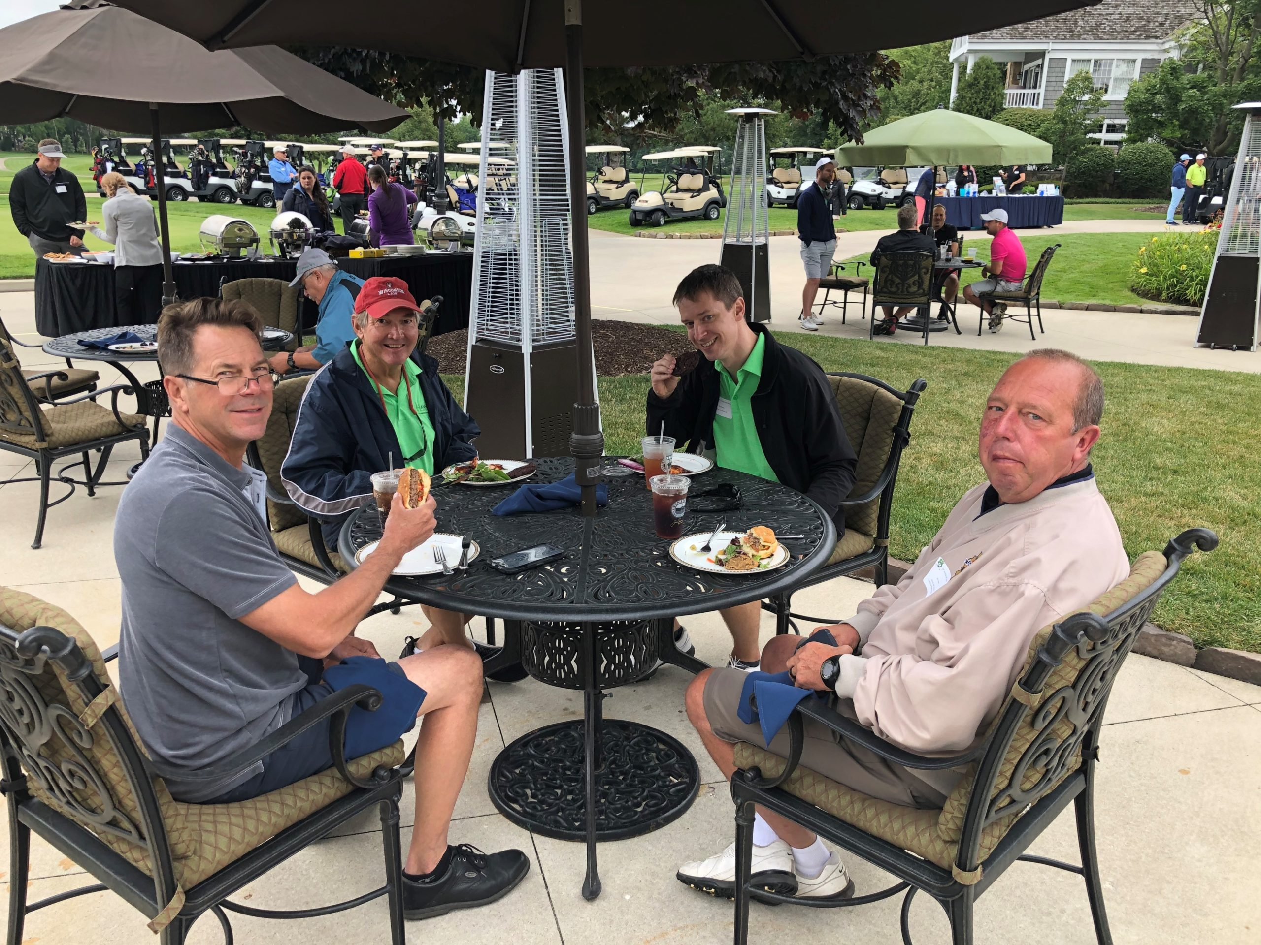 Keith Hanson and Group on patio